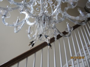 Stages of a Chandelier Installation
