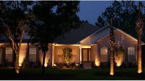 Landscape Lighting front at night