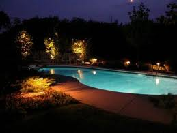 Landscape Lighting poolside